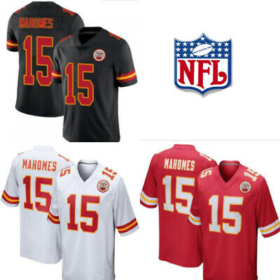 Patrick Mahomes Kansas City Chiefs Jersey Avail in Red, White, and Black. M-3XL