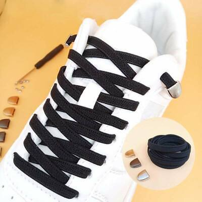 1 Pair Elastic Shoelaces No Tie Flat Shoe Laces Strings for Adults Kids Sneakers