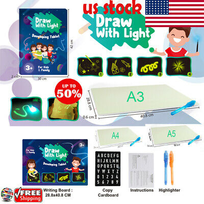 Draw With Light Fun & Developing Toy Drawing Board Magic Draw Educational HOT~!