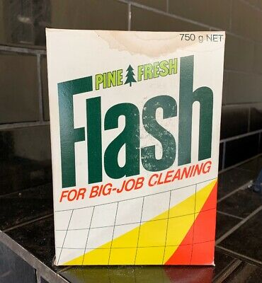 FLASH Cleaning Powder Vintage Packaging Box FULL