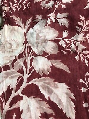 French Antique Madder Indienne Sample Toile