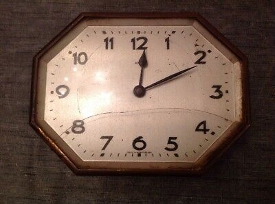 Antique Wurttemberg 8 Day Clock Movement Face Bezel To Repair Or Parts 18x14x8cm