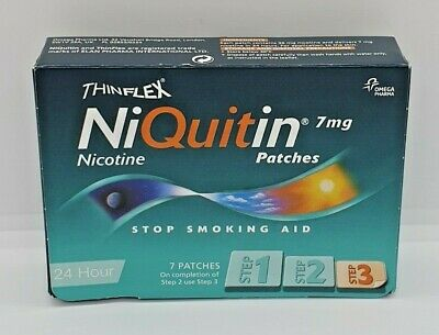 NiQuitin Thin Flex 7mg Nicotine Patches 1 Week Kit Stop Smoking Aid Step 3 - NEW