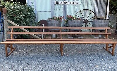 Vintage Church Pew. Wooden Bench Seat