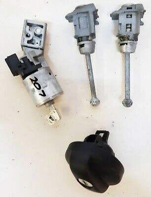 Peugeot 207 Ignition Switch Barrel & Locks Set X 1 Key Blade