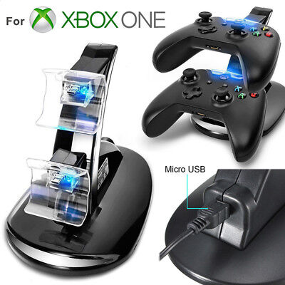 LED Dual fast Charge Dock Station Ladegerät für Xbox One/Xbox One S Controller4H