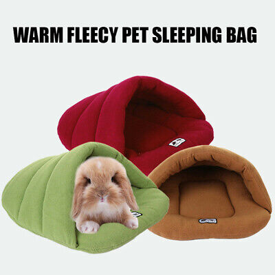 Pet Cat Dog Nest Bed Puppy Soft Warm Cave House Winter Sleeping Bag Mat Pad HOT