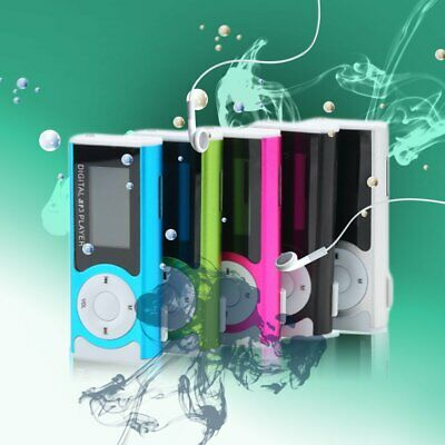 Mini USB Clip MP3 Media Player LCD Screen Support 16GB TF LED Light yU