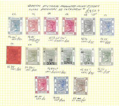 Hong Kong Stamp Collection Queen Victoria mm issues inc sg 28.Total SG Cat:£950+