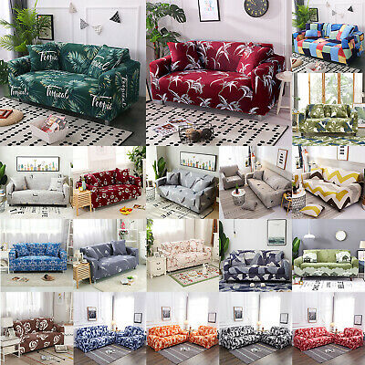 1/2/3/4 Seater Stretch Sofa Cover Couch Cover Elastic Ultra-Thin Wrap Christmas