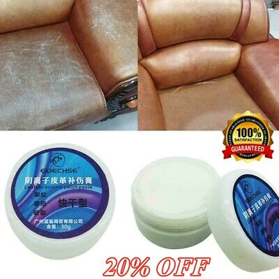 Leather Repair Cream/Filler Compound - For Leather Restoration,Cracks,Burns Hole
