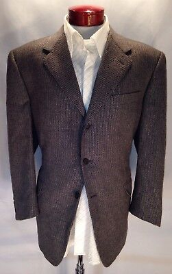 E285 Canali Wool Cashmere Blend Sport Coat Gray Size 44S Made in Italy