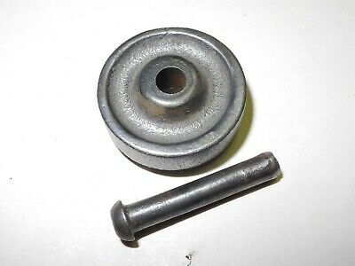 """Vintage Singer Treadle Sewing Machine Cast Base Wheel, 3/8"""" Includes Axle /Pin"""