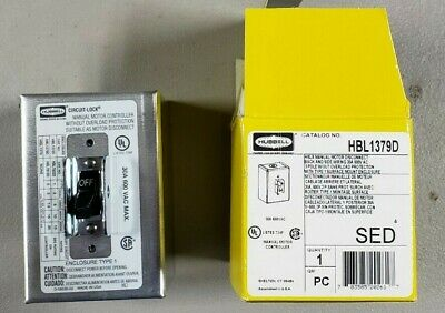 HUBBELL WIRING DEVICE-KELLEMS HBL1379D Manual Motor Disconnect 30A 600VAC 3P