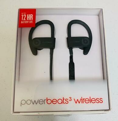 New GENUINE Black Beats Dr Dre Powerbeats3  Wireless Bluetooth Headphones  A1747