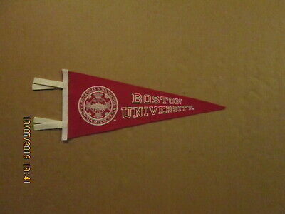 NCAA Boston University Circa 1990's 6x15 Mini Team Logo College Pennant