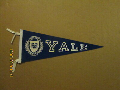 NCAA Yale University Vintage 1990's 9x24 Mini Team Logo College Pennant