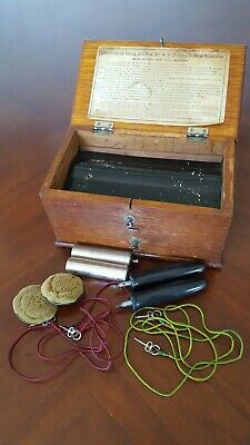 Home Medical Apparatus with Accessories 1800s No.4 D.D. Oak Box