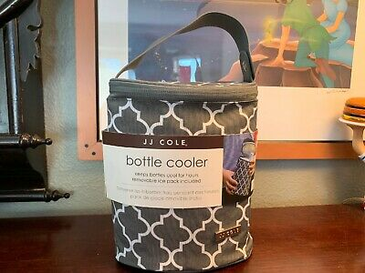 Baby DOUBLE Bottle Cooler Tote JJ COLE-Never Used w/tags + Ice Pack