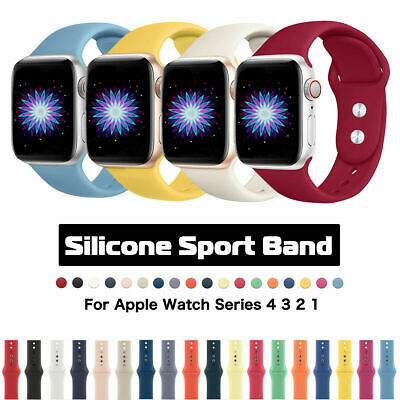 38/42mm 40/44mm Silicone Sports iWatch Band Strap for Apple Watch Series 5 4 3 2
