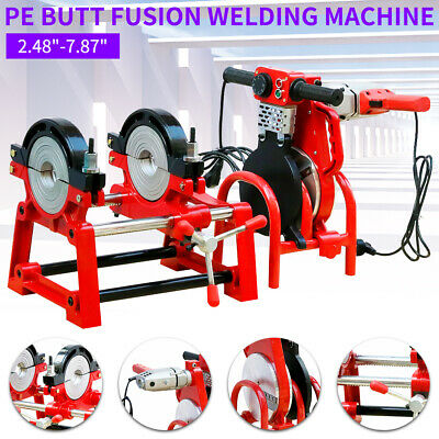 110V Manual Pipe Butt Fusion Welder PE HDPE PB PVC Piping Welding 2 Clamps