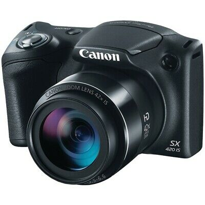 Canon 1068C001 PowerShot SX420 IS (Black) with 42x Optical Zoom