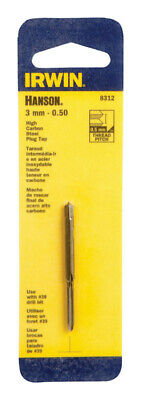 Irwin  Hanson  High Carbon Steel  3mm-0.50  Metric  Plug Tap  1 pc.