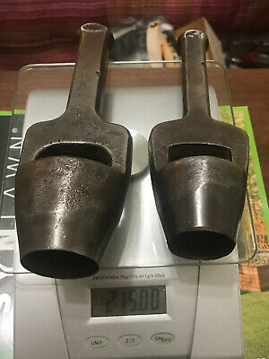 """2 Antique / Vintage B M Co Round Leather Punches 1 3/8"""", and 1 1/4"""""""