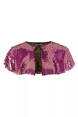 BNWT Topshop Party Sequin Embellished Cape, Onesize RRP £28