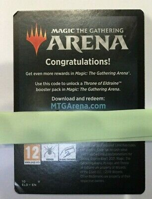 ARENA Code Magic Gathering Throne Eldraine 6 SIX Booster Packs Quick Delivery