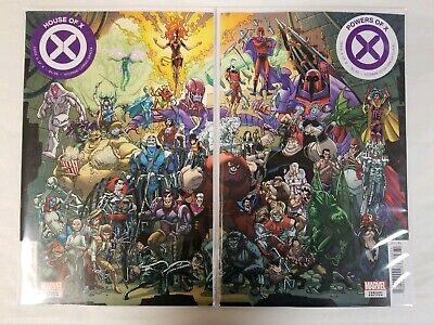 House of X #6 & Powers of X #6 Javi Garron Connecting Variant Cover Set NM