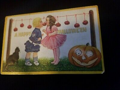 Vintage Antique Halloween Postcard from early 1900's