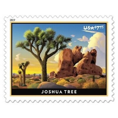 2019 $7.35 JOSHUA TREE, Priority Mail, Pane of 4