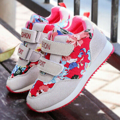 Children Kids Baby Boys&Girls Letter Flower Print Skate Shoes Sneakers Shoes UK