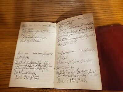 1905 Leather Diary of Iva Butoher Ottumwa Iowa 12 Months of Entries