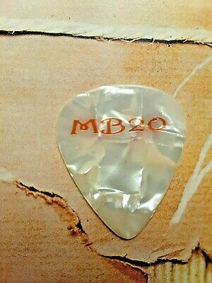 MATCHBOX 20 Rob Thomas white marble guitar pick - GETTING TO THE END!