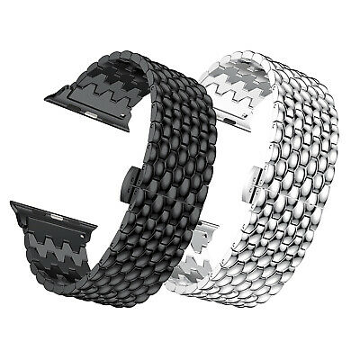 Stainless Steel iWatch Band For Apple Watch Series 5/4/3/2/1 42/44mm 38/40mm Men