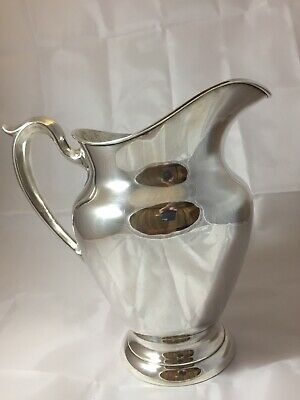 """Gotham Sterling Silver Water Pitcher 182 Old French 8 3/4"""" Tall  615 Grams"""