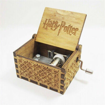 Harry Potter Wooden Hand Engraved Music Box Gifts Ornament Decor Collector *NEW*