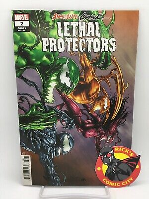 ABSOLUTE CARNAGE LETHAL PROTECTORS #2 MICO SAUYAN CODEX VARIANT Marvel Comics