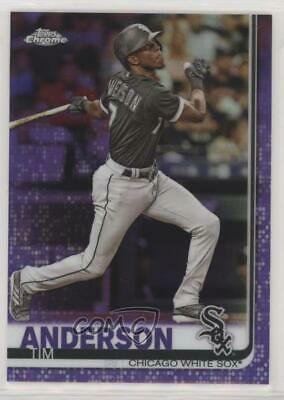 2019 Topps Chrome Purple Refractor/299 #186 Tim Anderson Chicago White Sox Card
