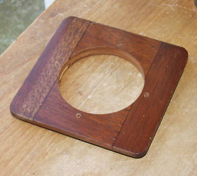 """round edge wooden lensboard 3.5 x 3.5 """"  54mm hole"""