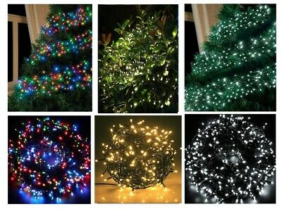 Festive Xmas 288 LED Multi Action Multicolour Cluster Christmas Lights Outdoor