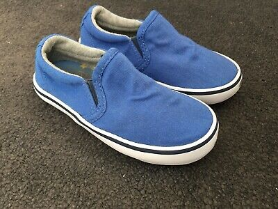 Next boys girls childs kids blue daps loafers trainers shoes plimsolls UK size 7