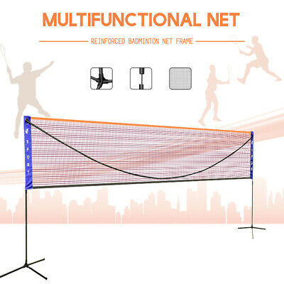 6M Portable Badminton Volleyball Tennis Net Set with Stand/Frame Carry Bag