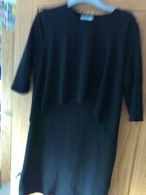 Mothercare Blooming Marvellous Maternity/Breastfeeding Black Sleeved Dress  14