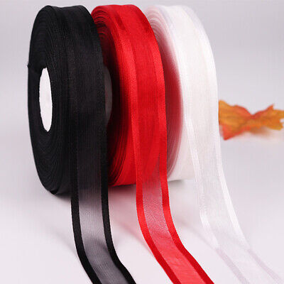 25 yards SATIN GROSGRAIN RIBBON hair bow DIY wedding party gift packaging decor