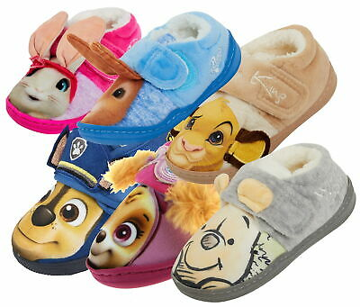 Kids 3D Character Slippers Boys Girls Novelty Nursery House Shoes Booties Size