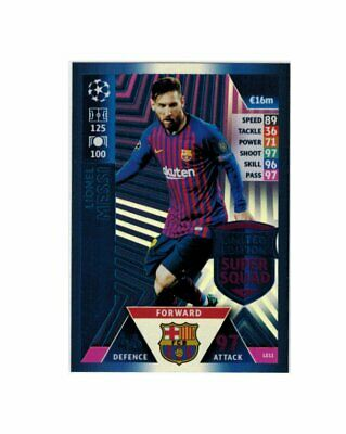 Match Attax Champions League 2018-19 Limited Edition Lionel Messi LE11