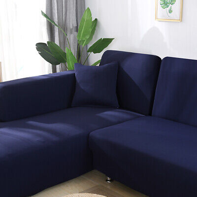 UK Universal Stretch Elastic Fabric Sofa Cover Sectional/Corner Couch Covers